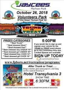 "Jaycees ""Trunk or Treat"" Event @ Volunteers Park"